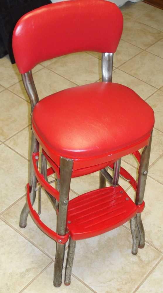 Cosco Step Ladder Chair Restoration. Kitchen CartsStep StoolsBarber ...