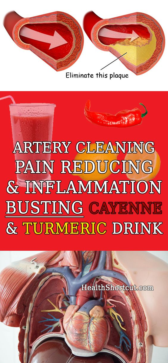 Clean Arteries, Reduce Inflammation and Eliminate Chronic Pain With This Drink. Cayenne Pepper and Turmeric.