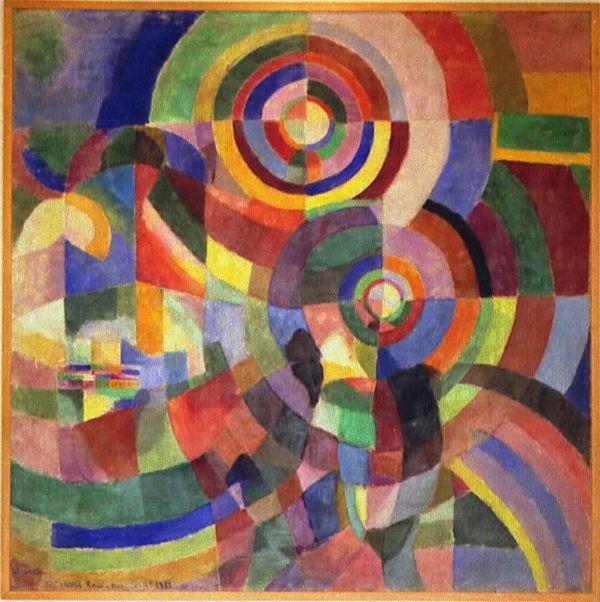Sonia Delaunay artiste peintre française des années 1920, fondatrice avec son mari (Robert Delaunay) du mouvement appelé Orphisme.