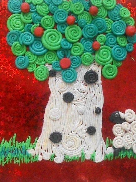 Пластилиновые картины - Поделки с детьми   Деткиподелки