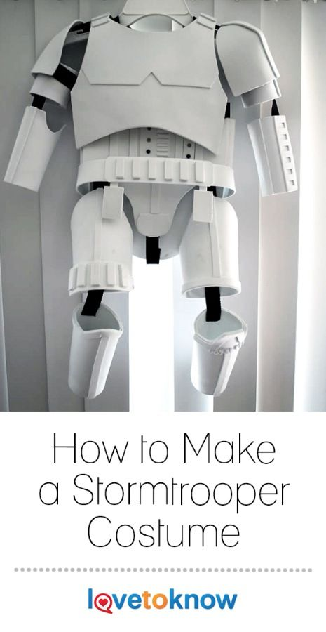 The iconic infantry soldier of the Empire from the Star Wars films is an easily recognizable and popular choice for a costume. A milk jug and some craft foam will get you started on a homemade costume that's sure to amaze. | How to Make a Stormtrooper Costume from #LoveToKnow