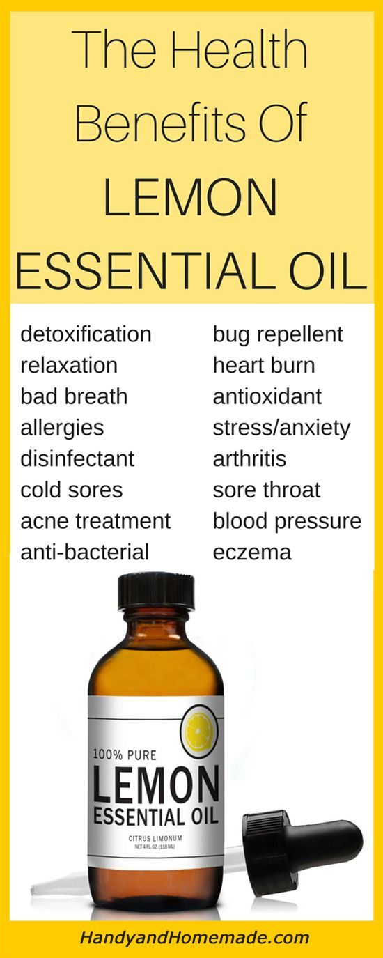 The Health Benefits Of Lemon Essential Oil