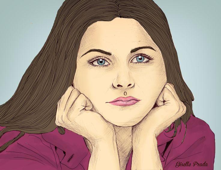 Ginnifer Goodwin illustration hand drawing