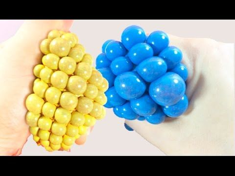 Squishy Stress Ball Slime الكورة الشبكية بالسلايم