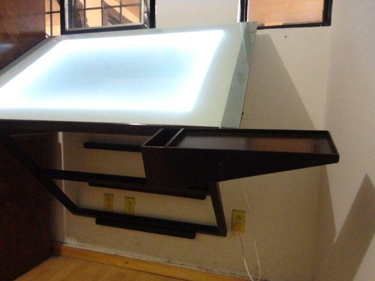 Restirador mesa para dise o con sistema de iluminaci n - Mesas para dibujar ...