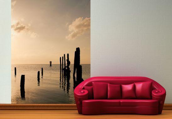 Fototapete Posts at Sunset - schöne Wanddeko für Zuhause von K&L Wall Art   wall-art.de