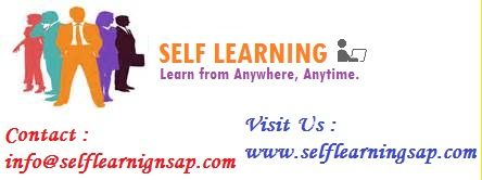 SAP SELF Learning Video's Available at http://www.selflearningsap.com  We have the training solutions for the modules like SAP SD, CRM,  MM,  ABAP,  FICO,  APO, WM, EWM, BO 4.1, HANA , ABAP Webdynpro & OOPs.