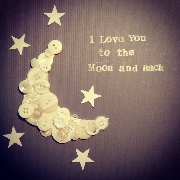 """I love you to the moon and back"". Available in black or white 23x23cm frame. £15"