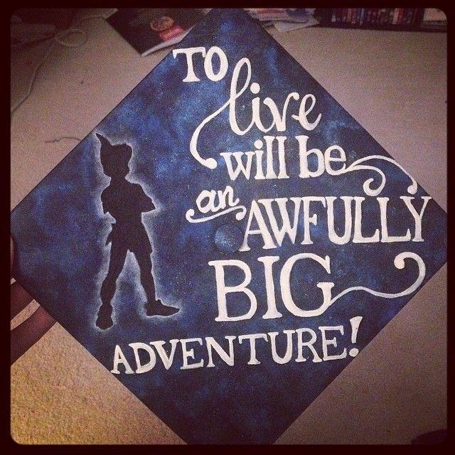 Grad Cap! Aim High, Bear Down...to live will be an awfully big adventure. AF Nurse