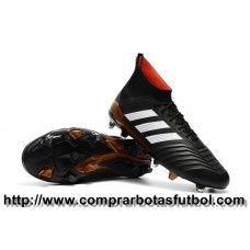Personalizar Botas De Futbol Adidas Predator 18.1 FG Negro Blanco Rojo