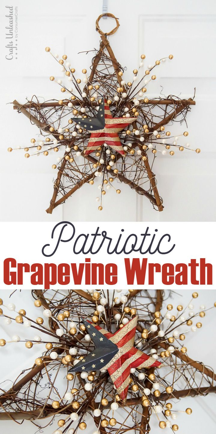 This 4th of July Wreath is so fun to make and really simple. It only takes 3 supplies and a few minutes to put together!
