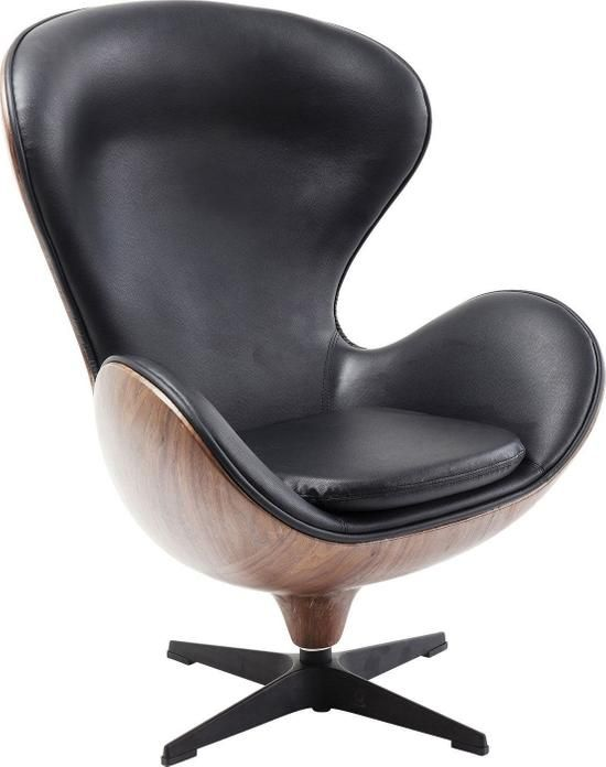 Fotel Obrotowy Loung 43x114 Cm Czarno Orzechowy Product