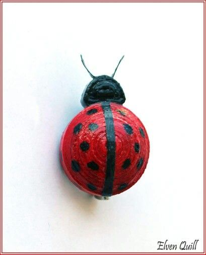 Ladybug brooch - quilling by Elven Quill www.facebook.com/elven.quill
