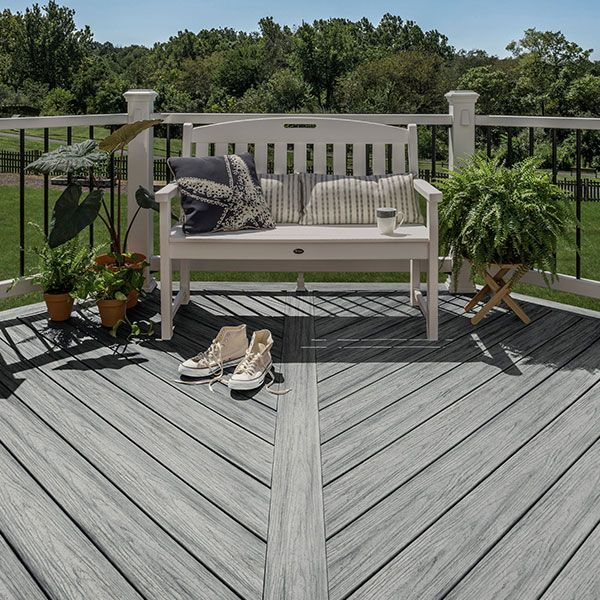 Learn How To Install Trex Composite Deck Boards On Your Backyard Space Composite Decking Trex Composite Decking Diy Deck