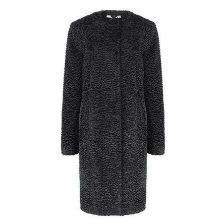 Faux Astrakhan coat