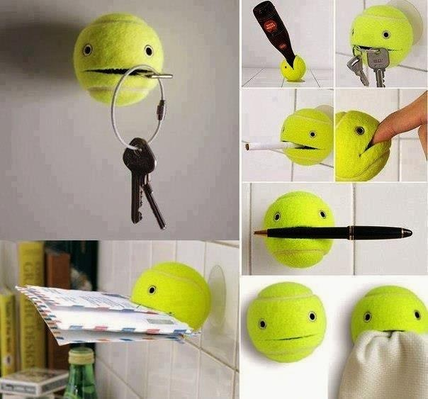 Molteplici utilizzi di una pallina da tennis. Do it! http://www.mostraartigianato.it/it/la-fiera.html