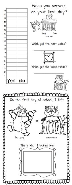 First Grade Blue Skies: Kissing Hand First Day Back to School Pack