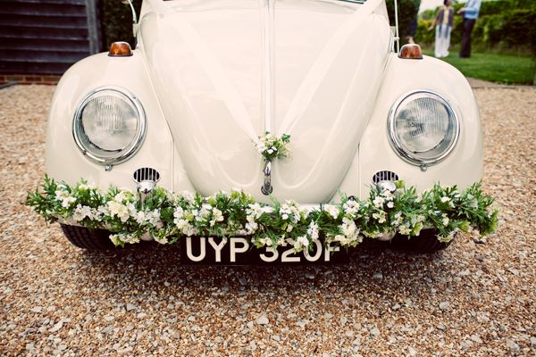 vintage wedding car, image by Cotton Candy Photography