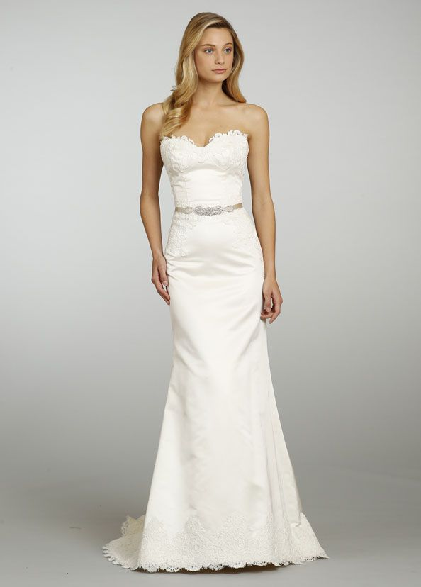 Perfect backless too alvina valenta bridal gowns for Simple corset wedding dresses