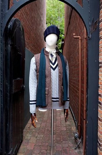 Henry Bucks Knitwear - made outside of Florence/ Barbour vest and shirt/ John Smedley scarf and beanie #mensfashion