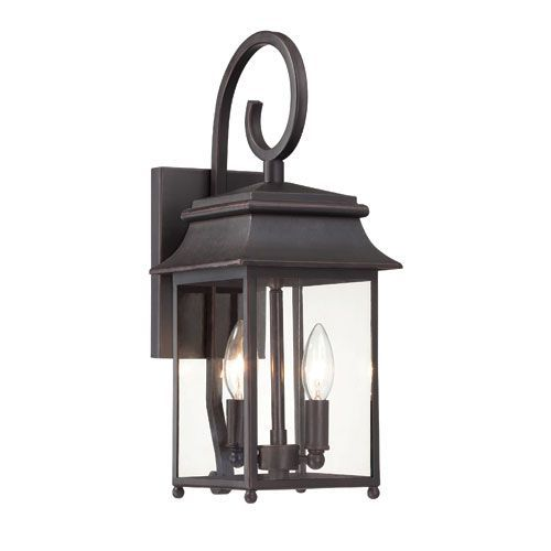 Durham Small Lantern With Scroll Savoy House Wall Mounted Outdoor Outdoor Wall Lighting