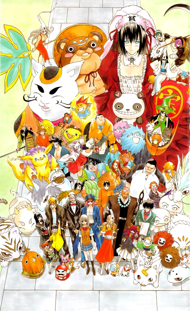 Fortune misfortune members anime good luck girl cartoon