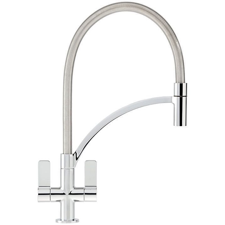 Buy Franke Wave Pull-Out Nozzle Kitchen Tap, Chrome Online at johnlewis.com