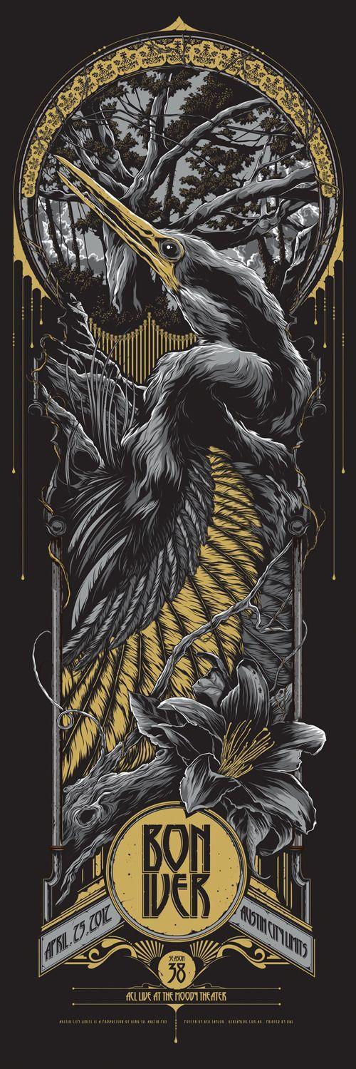 Poster for Bon Iver by Ken Taylor…                                                                                                                                                                                 Plus