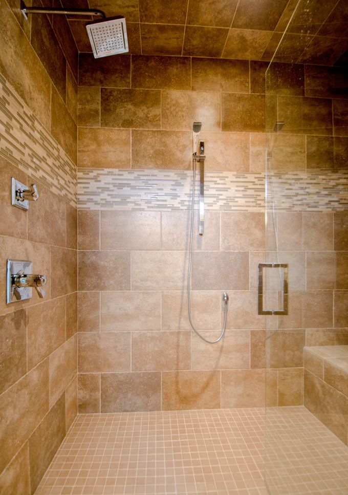 Tiled showers ideas walk