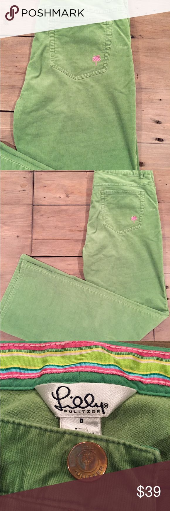 Lilly Pulitzer green cord pants size 8 Lilly Pulitzer green cord pant. Size 8 Please Note that all items pictured with pants are sold separately Lilly Pulitzer Pants Wide Leg