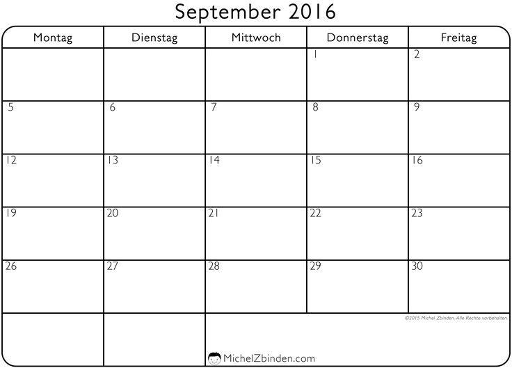 12 best September 2016 Calendar images on Pinterest Calendars - event calendar templates