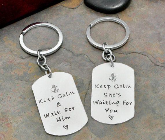 Navy girlfriend  Navy boyfriend keychains  by 3rdAvenueDesigns, $30.00