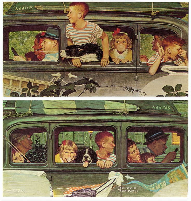 I love Rockwell's portrayal of an idealistic America...nostalgic and innocent. One of the worlds most prolific artists, and yet was very insecure about his abilities.