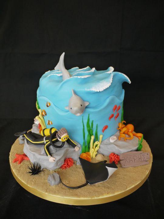 Gâteau plongée