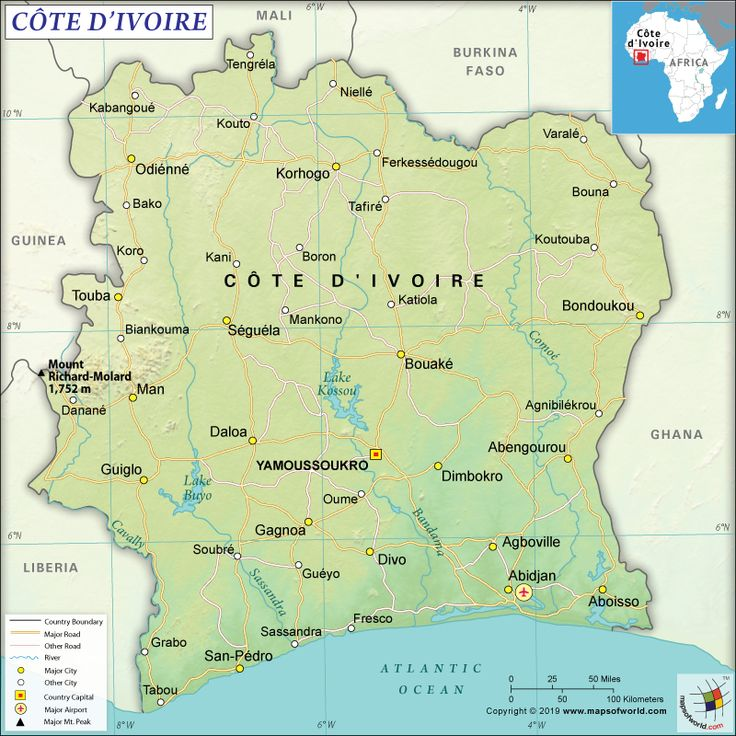 What Are The Key Facts Of Cote D Ivoire Geography Facts Map