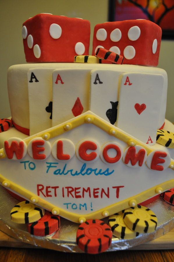 Casino Retirement Cake Decorating Ideas In 2019 Poker