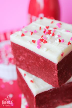 Red Velvet Cake Mix Fudge