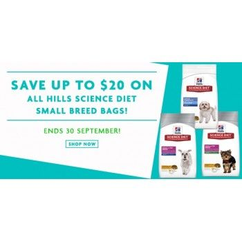 All Hills Science Diet Small Breed Bags @ Petpost Up to $20 Off - Bargain Bro