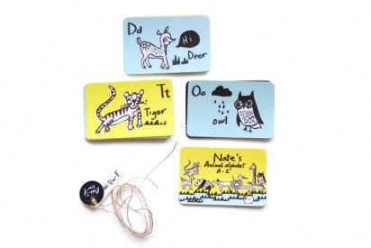 personalized flash cards for baby gifts