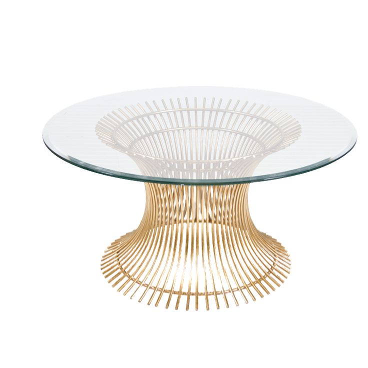 Powell Cf 30 Gold Leaf Iron Coffee Table Base With 30 Diameter Beveled