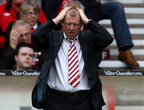 Steve McClaren aka Wally with the Brolly aka Schtev. (Regularly seen with his head in his hands after realising what a mistake Forest made hiring him.)