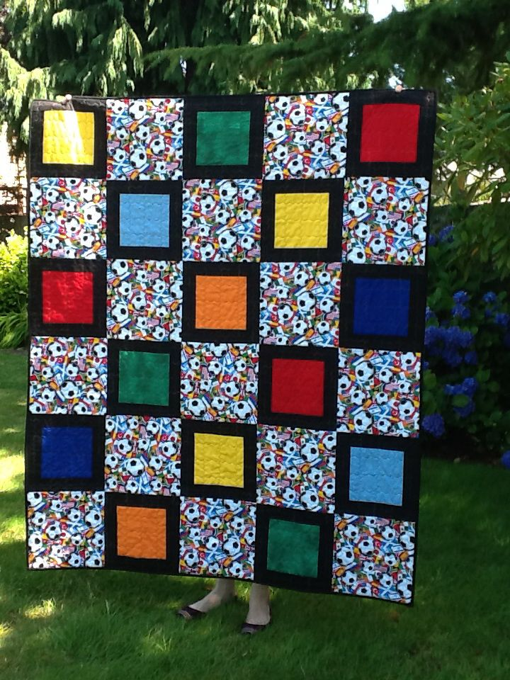 41 Best Images About Soccer Quilts Ideas On Pinterest