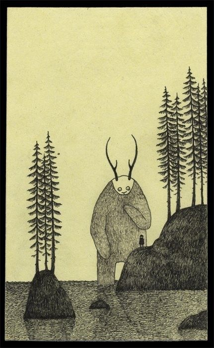 John Kenn, Post-Its Monster Drawings.