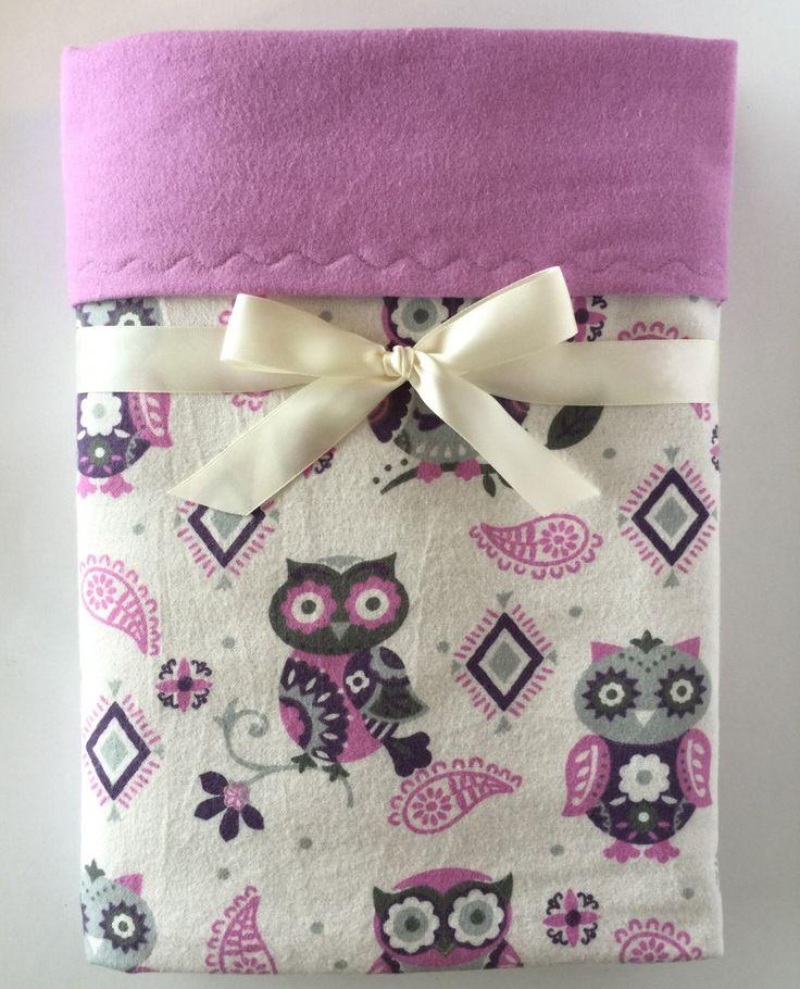 Flannel Blanket - Receiving Blanket - Owl Blanket - Baby Girl Blanket - Lavender Blanket - Swaddle Blanket - Owl Nursery - Toddler Bedding by BeastiesBabies on Etsy