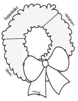 Figurative Language Wreath Craftivity Sort (Core-Aligned