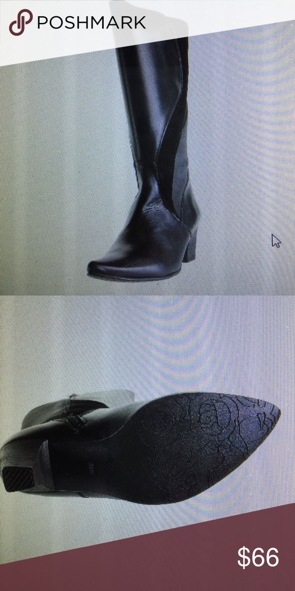 Fidji black leather boots new in box Leather boots fidji Shoes Heeled Boots