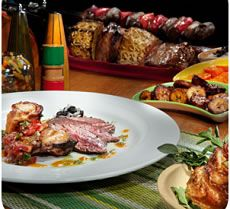 Enjoy all you can eat Brazilian Steakhouse cuisine from the Rodizio style dining experience at Samba in The Mirage Las Vegas.