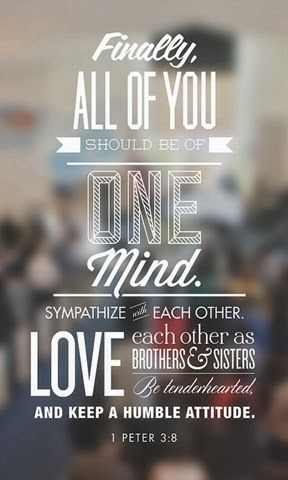 Unity among the believers - God has designed us humans with differences to make us need each other!