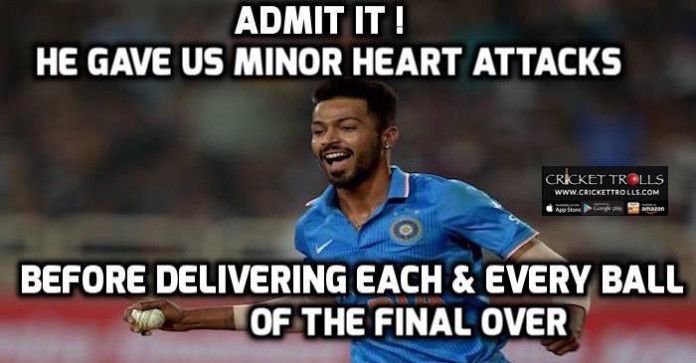 #WT20 #INDvsBAN #T20WorldCup #ICCT20WC #HardikPandya #T20I Cricket Trolls Hardik Pandya​ steals it for Indian Cricket Team​ against Bangladesh National Cricket Team​ http://www.crickettrolls.com/2016/03/23/hardik-pandya-steals-it-for-team-india-against-bangladesh-wt20-2016/