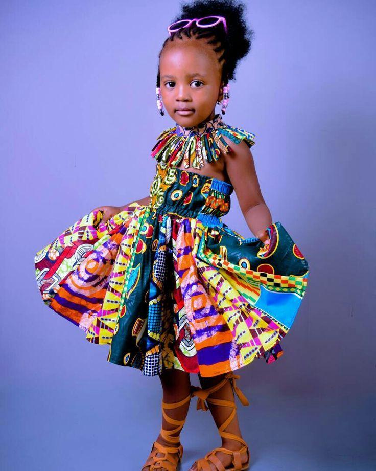 Ankara Kids African Baby Clothes African Children Dress
